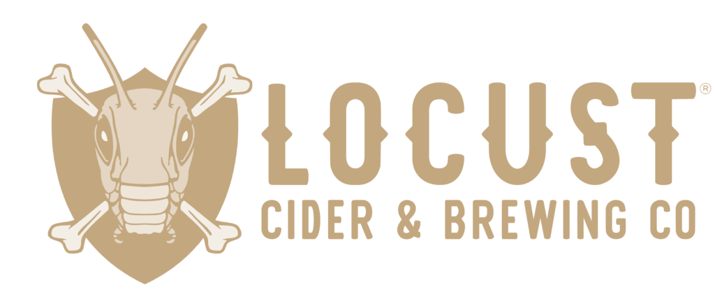 LOCUST_LOGO_CIDER AND BEER_GOLD_horizontal